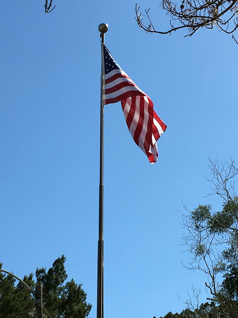 new flag over the civic club