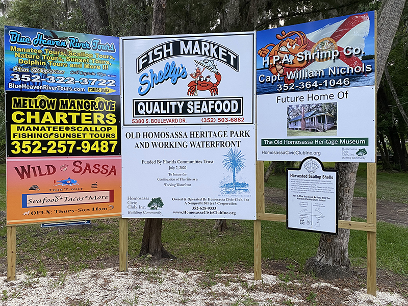 Old Homosassa Heritage Park and Working Waterfront